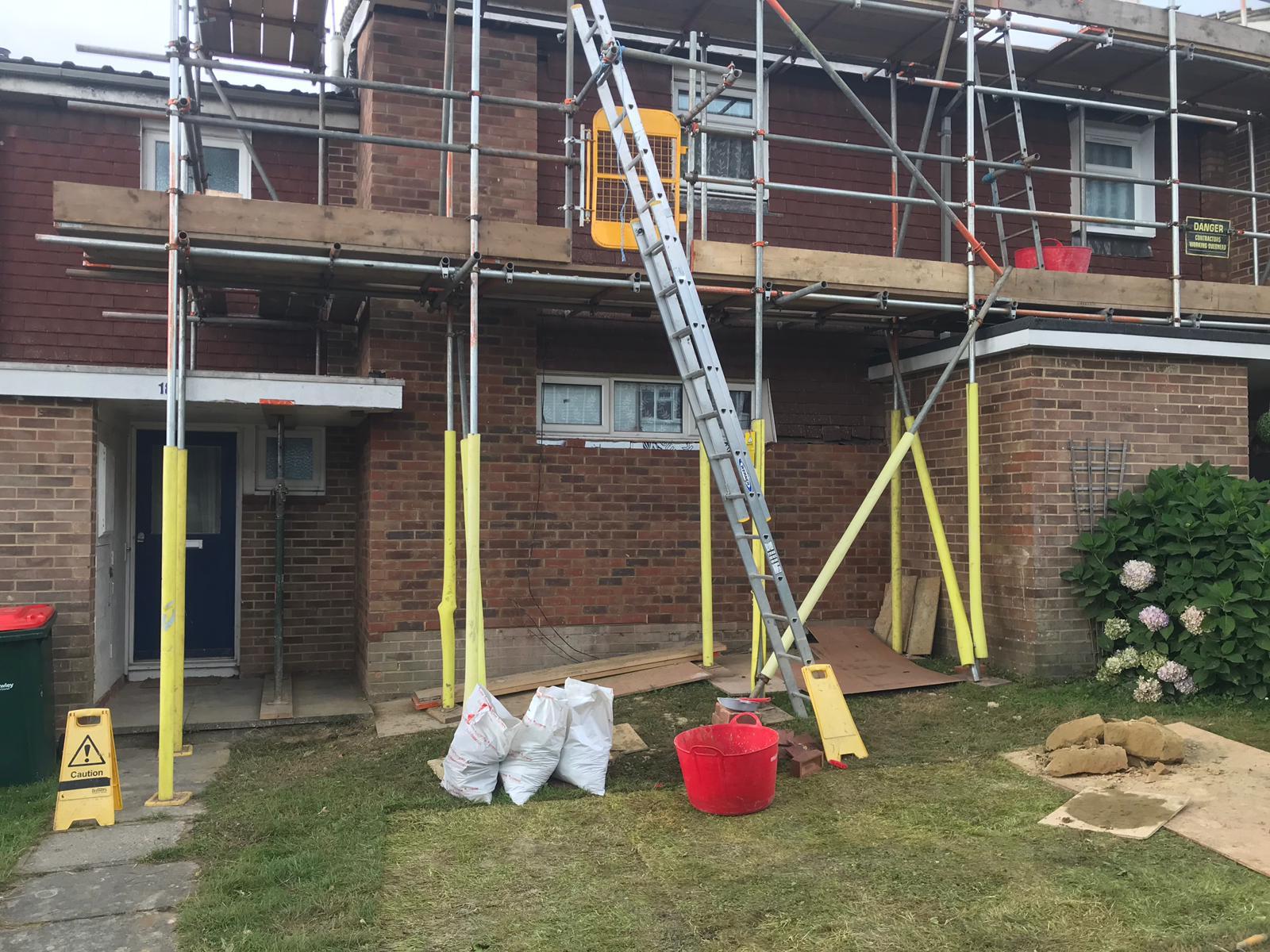 Brick house after renovation