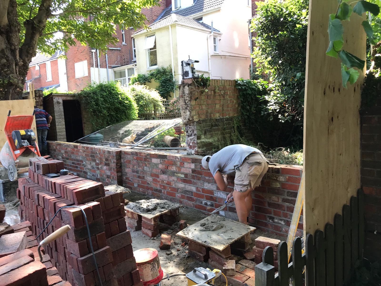 Wall during rebuild